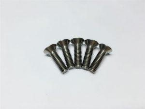 M3, M6-titanioŝraŭba plata kapo socket kapo ĉapo titanio flankŝraŭboj por spinal kirurgio