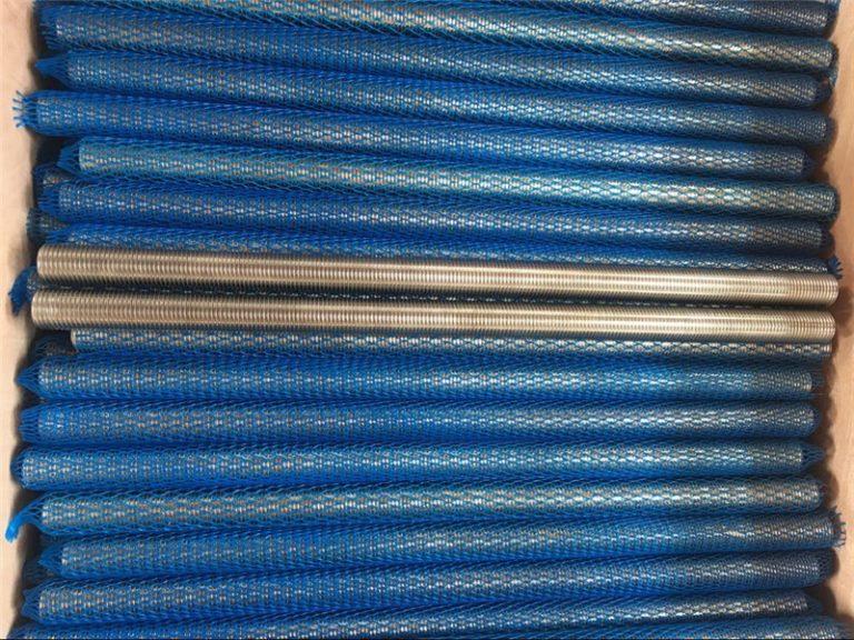 nikelo-alojo inconel601 / 2.4851 trapezoidal fadenigita vergo novaj varoj