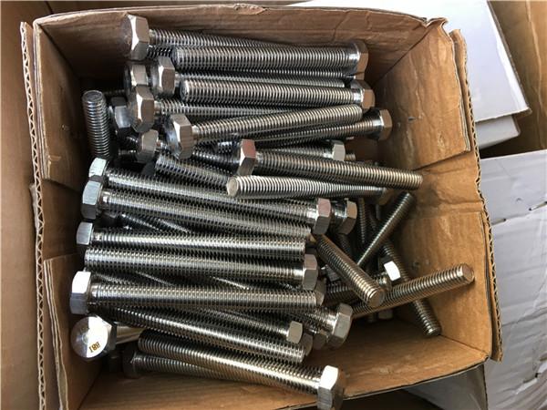 310s / 1.4845 specialaj neoksideblaj ŝtalaj fiksiloj heksa riglilo-nuksa lavilo m24 * 80mm