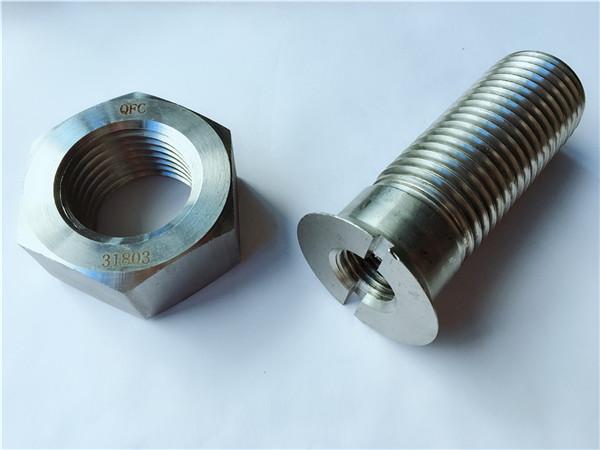 kutimo karbona ŝtalo metala aparataro trako riglilo kaj nukso