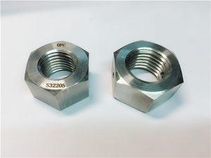 Ne.76 Dupleksa 2205 F53 1.4410 S32750 neoksidebla ŝtalo-fermetiloj peza heksa nukso