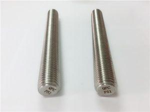 Ne.77 Dupleksa 2205 S32205 neoksidebla ŝtalaj kroĉiloj DIN975 DIN976 fadenaj bastonoj F51