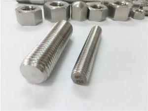 Ne.81-F55 Zeron100 ferrostiloj de neoksidebla ŝtalo plena fadena stango S32760