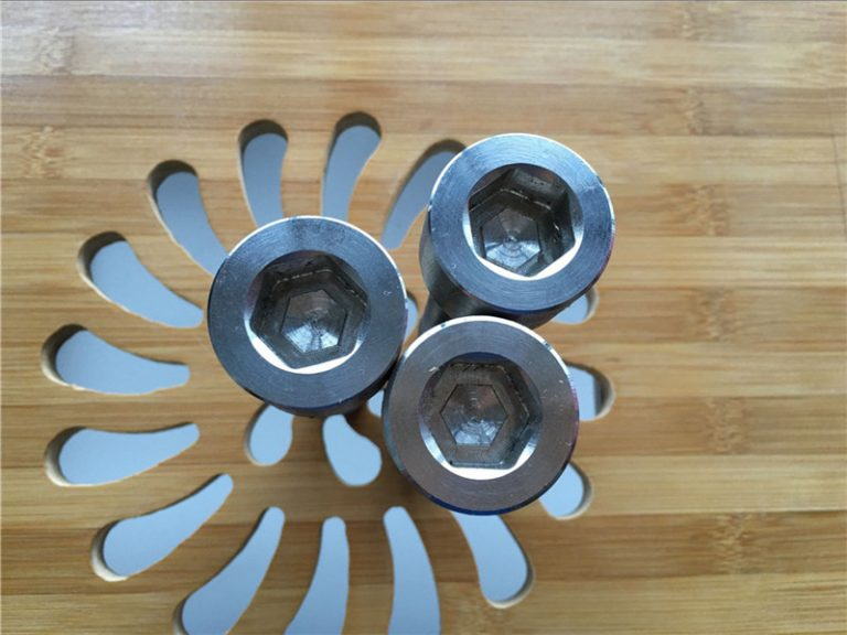 altkvalita ASEM heksa soklo titanio gr2 ŝraŭbo / riglilo / nukso / lavilo /
